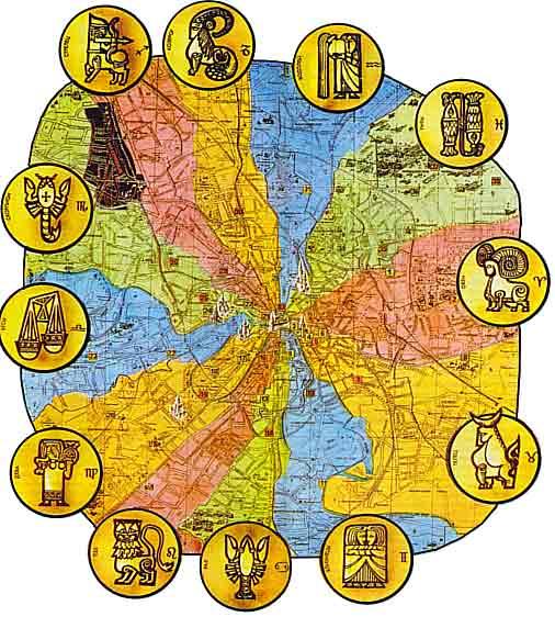 Яков Брюс и Астрологическая карта Москвы