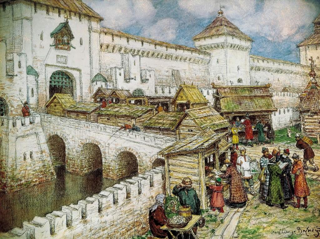 Книжные лавки на Спасском мосту, 17 век