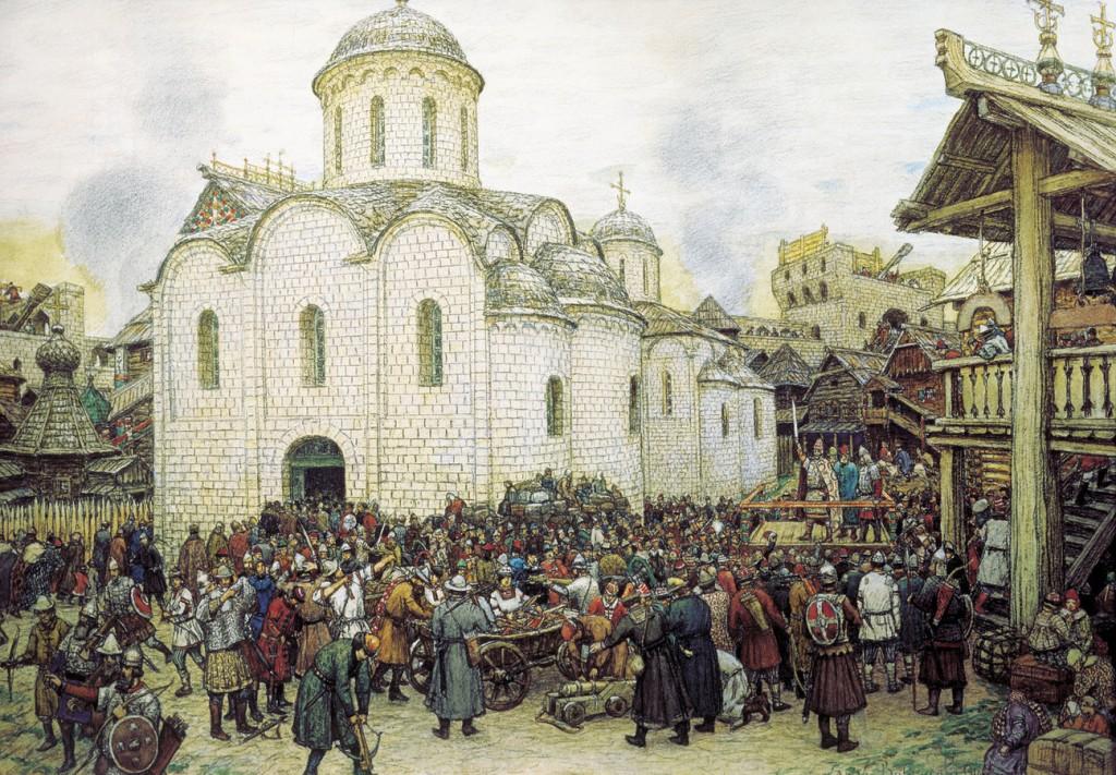 Кремль в конце 14 века