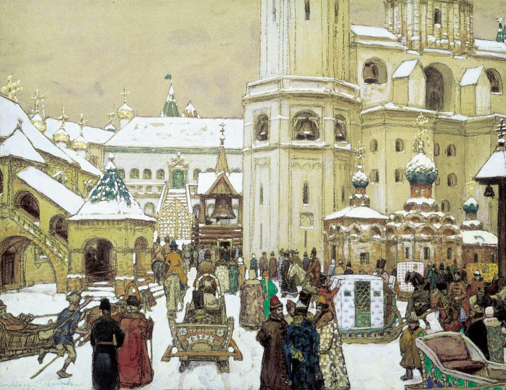 Площадь Ивана Великого в Кремле, 17 век.