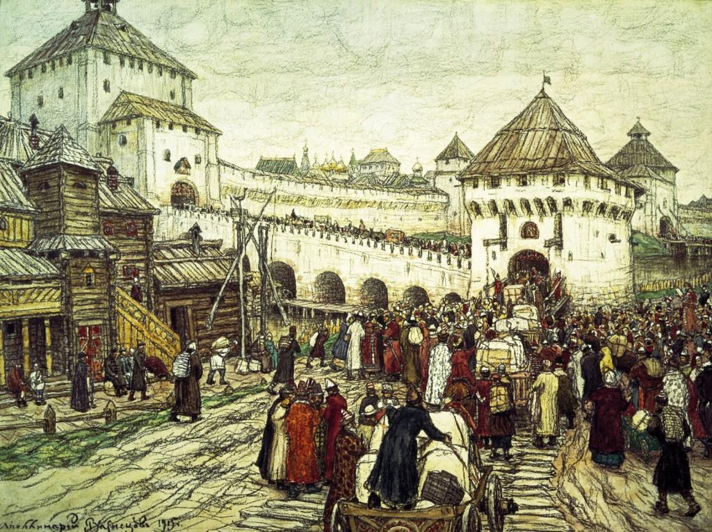Троицкий мост и Кутафья башня
