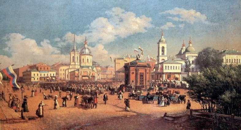 Ярмарка на Арбатской площади. А.П.Розанов. 1877 г.