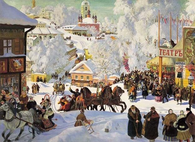 Картина из серии «Масленица» Бориса Кустодиева, 1910-е годы.