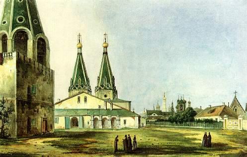 Алексеевский стародевичий монастырь. Картина Карла Рабуса, 1838.