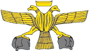 Двуглавый орел Хеттского царства (Реконструкция по рельефам из Хаттусы)