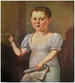 М. Ю. Лермонтов в возрасте 3—4 лет