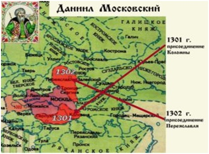 Карта Москвы 1301-1302гг
