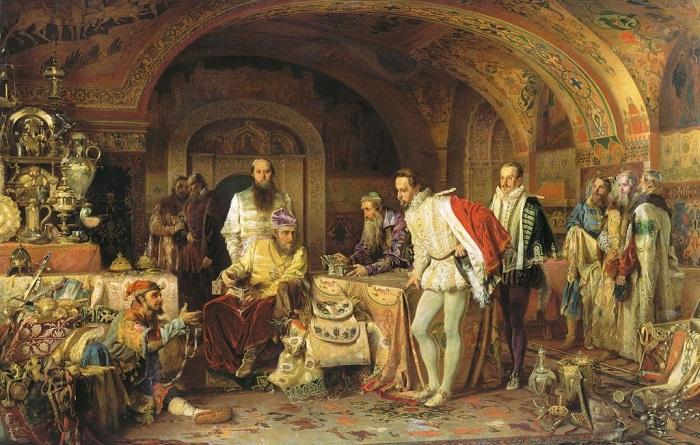 Иван Грозный показывает свои сокровища английскому послу