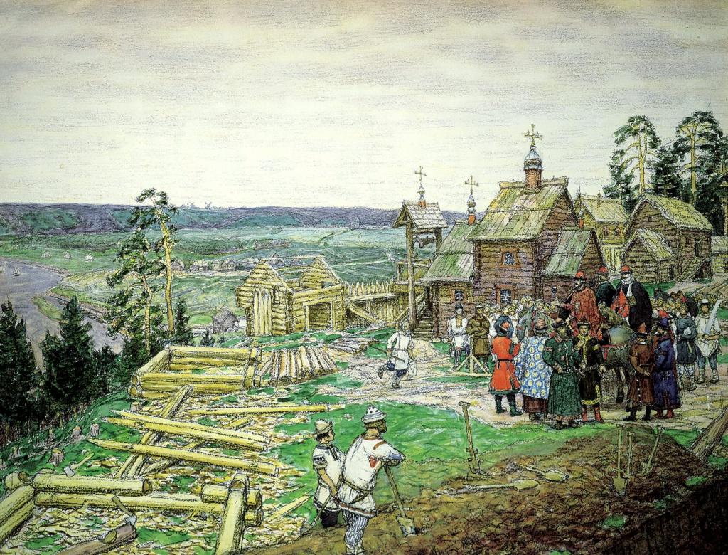 Основание Москвы Юрием Долгоруким