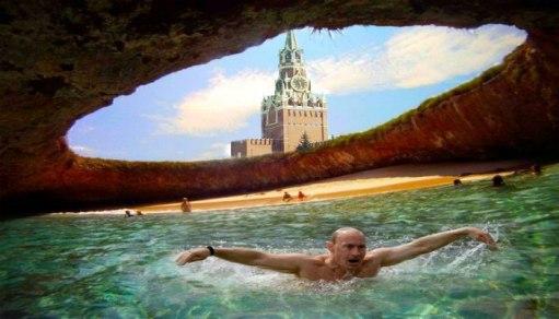 Так по идее некоторых фантастов могло бы выглядеть подземное море Москвы