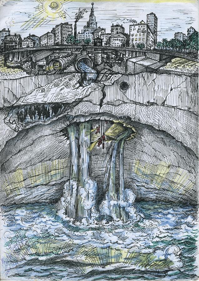 Вот такое подземное море под Москвой рисуется в воображении некоторых людей