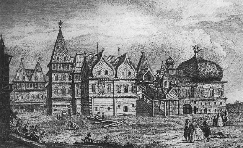 Теремной дворец – гравюра 18 века