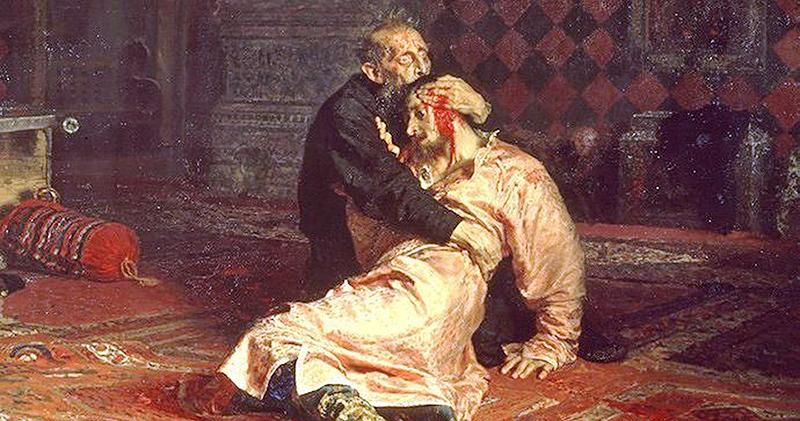Эту картину можно интерпретировать как символическое изображение кармы Ивана Грозного