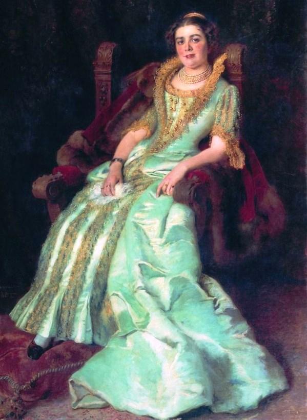 Портрет В.А. Морозовой. К. Маковский, 1884.